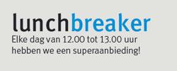 Elke dag van 12.00 tot 13.00 hebben we een superaanbieding!
