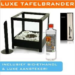luxe tafelbrander bio ethanol aansteker vs deal. Black Bedroom Furniture Sets. Home Design Ideas